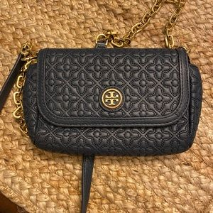 Tory Burch Bryant Blue leather mini WOC crossbody